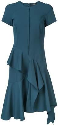 Josie Natori ruffle detail dress