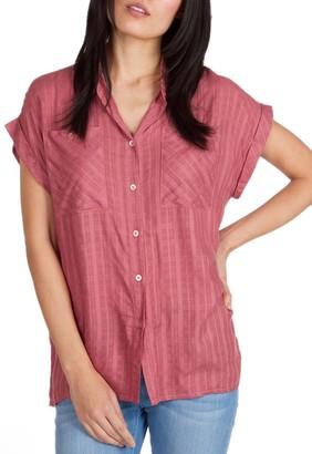 UNIONBAY Women's Windowpane S/s Woven Shirt