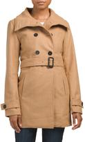 Juniors Belted Wool Coat