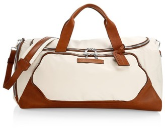 Brunello Cucinelli Leather-Trimmed Duffel Bag