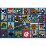 Asstd National Brand Funky Boys Quilt Rectangular Rugs