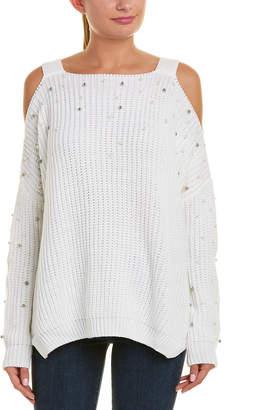 Elan International Cold-Shoulder Sleeve Sweater