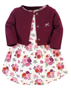 Hudson Baby Girl Dress and Cardigan
