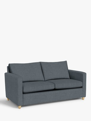 John Lewis & Partners Bailey Double Sofa Bed, Light Leg, Hatton Steel