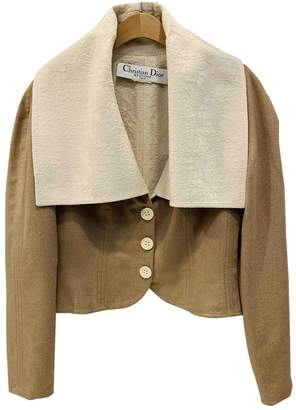 Christian Dior Beige Wool Jackets
