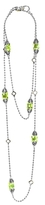 Lagos 18K Gold and Sterling Silver Caviar Color Station Necklace with Green Quartz, 34
