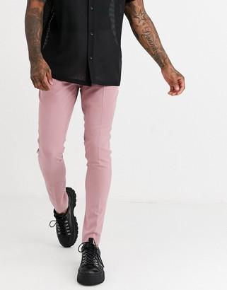 ASOS DESIGN super skinny smart pants in rose