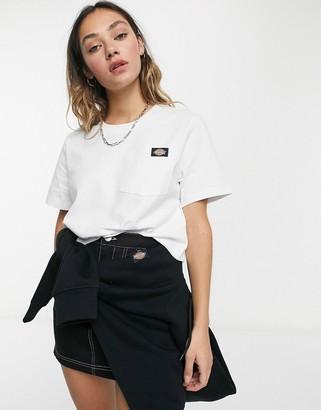 Dickies Ellenwood cropped t-shirt in white