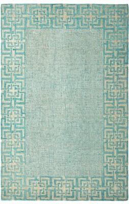"Company C Geometric Handmade Tufted Lake Area Rug CompanyC Rug Size: Rectangle 5'6"" x 8'6"""