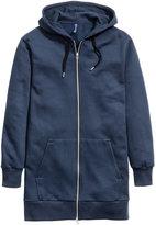 H&M Long Hooded Jacket - Dark blue - Men