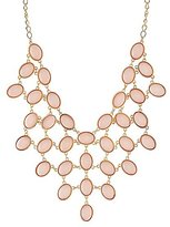 Charlotte Russe Faceted Stone Bib Necklace