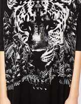 Asos T-Shirt Dress with Baby Tiger Print