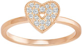 Swarovski Field Folded Heart Ring, White