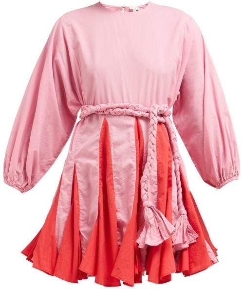Rhode Resort Ella Cotton Dress - Womens - Pink