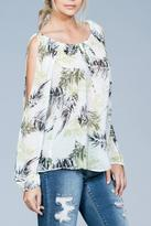 Ark & Co Split Sleeve Top