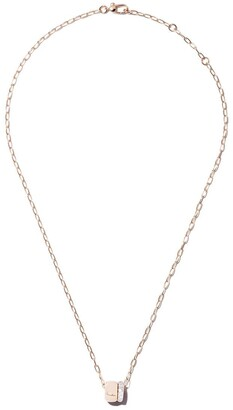 Pomellato 18kt rose gold Iconica double ring diamond pendant necklace
