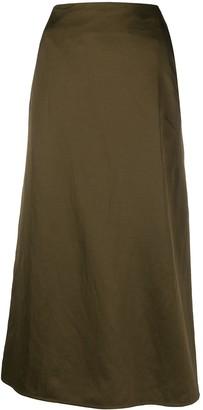 Jil Sander long A-line skirt