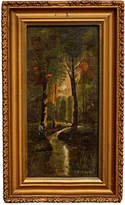 Rejuvenation Petite Oil Painting of Forested Clearing