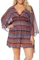 Jessica Simpson Plus Size Women's Cover-Up Kimono