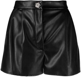 Giuseppe di Morabito Faux-Leather High-Waisted Shorts