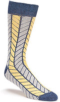 Daniel Cremieux Boxed Chevron Crew Dress Socks