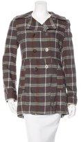 Marni Wool Plaid Coat