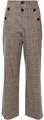 Masscob Martin Button-detailed Houndstooth Cotton-blend Wide-leg Pants
