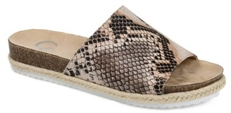 Journee Collection Celine Espadrille Slide Sandal