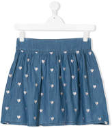 Little Marc Jacobs TEEN heart cutout denim skirt