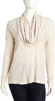 Slub-Knit Sweater, Winter White