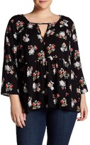 Hip Floral Blouse (Plus Size)