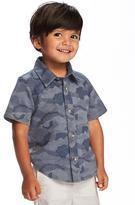 Old Navy Camo-Print Dobby Shirt for Toddler Boys