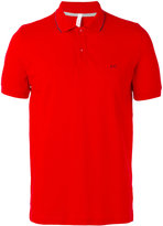 Sun 68 contrast logo polo shirt - men - Cotton/Spandex/Elastane - S