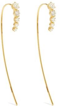 Jade Trau - Ara Large Diamond & 18kt Gold Earrings - Gold