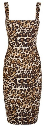 Dorothy Perkins Womens Vesper Multi Colour Leopard Print Bodycon Dress, Leopard
