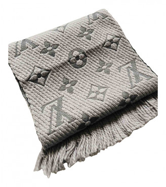 Louis Vuitton Grey Cotton Scarves
