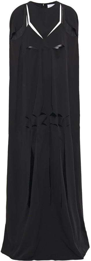Maison Margiela Cape-effect Cutout Satin-crepe Gown