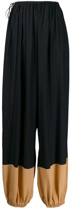 Stella McCartney Contrast-Panel Baggy Trousers