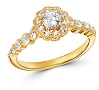 Bloomingdale's Diamond Engagement Ring in 14K Yellow Gold, 0.75 ct. t.w. - 100% Exclusive