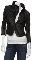 Short Asymmetric Leather Jacket