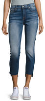 7 For All Mankind Step Hem Skinny Ankle Jeans