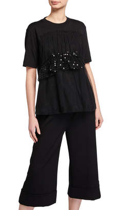 Simone Rocha Sequined Apron-Front T-Shirt