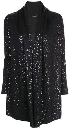 Natori loose-fit sequin-embellished cardigan