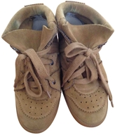 Isabel Marant Camel Suede Trainers Bobby