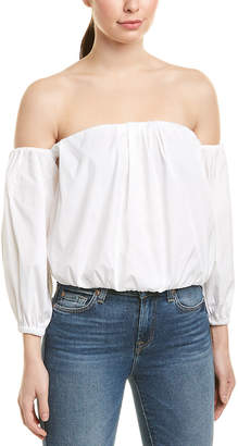 7 For All Mankind Seven 7 Puff Sleeve Top