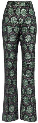 Paco Rabanne Floral brocade straight pants