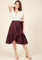 ModCloth Spirit of the Seine Wrap Skirt in XL