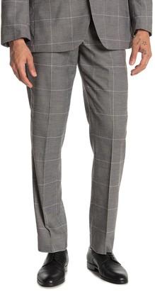 """Moss Bros Medium Grey Plaid Regular Fit Suit Separates Pants - 30-34"""" Inseam"""