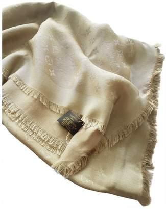 Louis Vuitton Chale Monogram Gold Silk Scarves