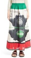Undercover Women's Miles Davis Print Silk Skirt